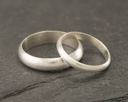 silver wedding bands wedding band set brushed wedding rings sterling silver wedding