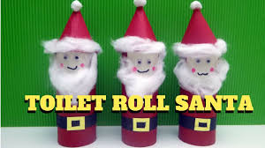 christmas craft toilet paper roll santa claus toilet paper
