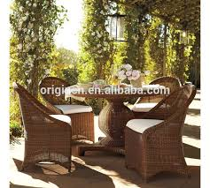 glass top round table and chairs rattan outdoor home garden french