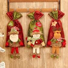 candy apple bags hot sale fancy santa claus christmas snowmen box decorations candy