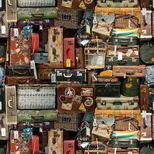 Retro Upholstery Bright Funky Retro Digital Photo Printed 100 Cotton Craft