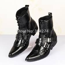 fashion motorcycle boots new men s pointed toe boots punk boots fashion motorcycle boots