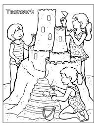 beach coloring pages preschool sand castle coloring pages plus printable summer coloring pages