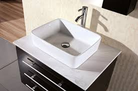 Wall Mounted Bathroom Vanity by Design Element Elton Wall Mount Single Vessel Sink Vanity With