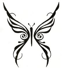 tribal butterfly tattoo by gina cincotta tattooflash