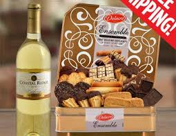 top deluxe cookie basket wine free shipping gourmet gift baskets