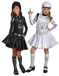 child halloween costumes uk stormtrooper u0026 darth vader girls fancy dress star wars book week
