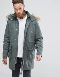 Green Parka Jacket Mens Parkas Men U0027s Parka Coats U0026 Fur Lined Parkas Asos