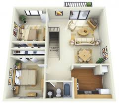 appartement 2 chambre 50 plans 3d d appartement avec 2 chambres architecture house