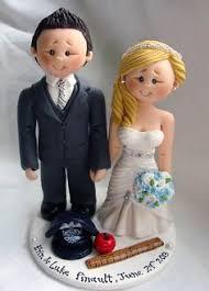 scottish groom in tartan kilt wedding cake topper by alittlerelic