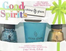 buy china glaze good spirits holiglaze range glitter polish gift