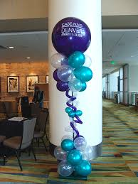 balloon columns classic twisted column with 3ft topper balloon almost