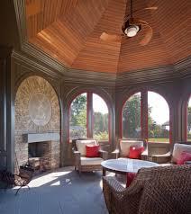 sunroom with fireplace simple ledgestone tile ideas living room