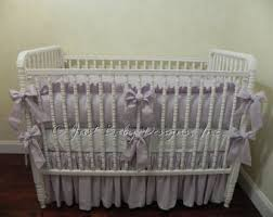 Lavender And Grey Crib Bedding Purple Crib Bedding Etsy