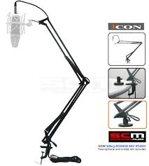Desk Microphone Stand by Icon Mb 03 Desk Mount Scissor Style Microphone Stand With 5m Xlr