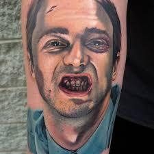 portrait of edward norton as the narrator by al garcia tattoos
