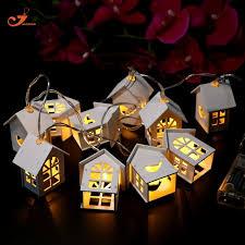 Decorative Indoor String Lights Warm White Wooden House Bird Indoor String Lights 10 Led Party