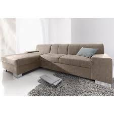 canapé tweed canapé d angle fixe à droite ou à gauche convertible tissu aspect