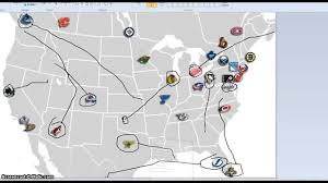 Nhl Map New Nhl Team Locations Youtube