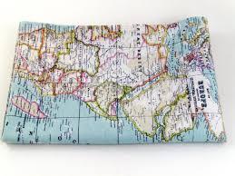 Map Fabric World Map Fabric Map Fabric World Fabric Blue Fabric Half Yard
