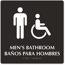 bathroom men bilingual bathroom signs spanish bathroom signs