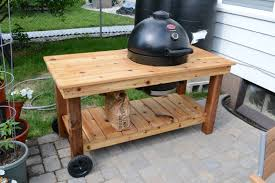 diy grill table plans kamado grill smoker table markson blog