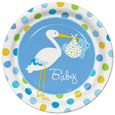 stork baby shower decorations blue boy stork baby shower tableware at best baby shower