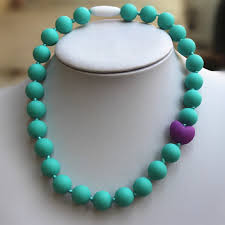 silicone bead necklace images Navy silicone necklace large flat beads pendant necklaces baby jpg