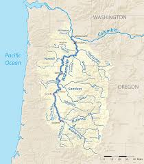 Usa Map With Rivers by File Willamette River Map New Png Wikimedia Commons
