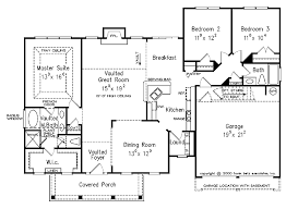 split bedroom floor plans split entry house plans design basics split bedroom plans
