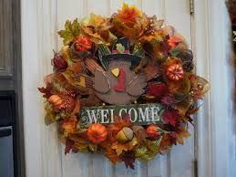 welcome thanksgiving wreath fall wreath festive fall turkey