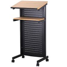 standing desk on wheels rolling podium mobile lectern presentation standing desk w brake