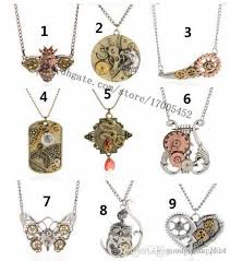 vintage owl pendant necklace images Wholesale 9 style mix vintage steampunk necklace antique owl clock jpg