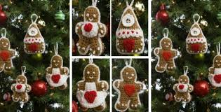 gingerbread crocheted tree ornaments free crochet pattern