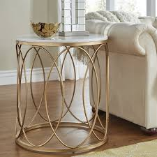 modern gold table l brilliant gold end table pertaining to maggy side white and rustic