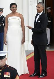 pics michelle obama u0027s state dinner dress see her stunning white