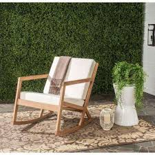 Rocking Chair Patio Furniture Eucalyptus Rocking Chairs Patio Chairs The Home Depot