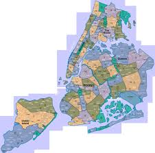 A Map Of New York City by Map Of New York City Districts New York Map