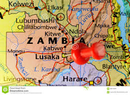 Map Of Zambia Lusaka Capital Of Zambia Stock Illustration Image 89019094