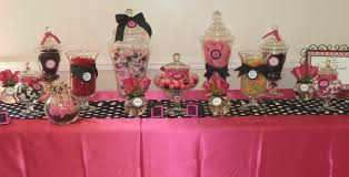 spoonful of sugar custom candy buffets back to back in pink and