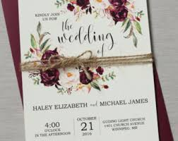 wedding invitations toronto wedding invitations paper etsy ca