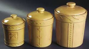 yellow canister sets kitchen signature sorrento wheat gold at replacements ltd page 1