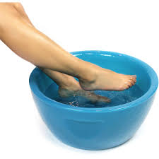 Mediterranean Spray Tan Solution Round Pedicure Bowl Mediterranean Blue Durable Resin Material