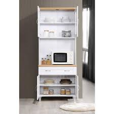 home depot kitchen cabinets display hodedah china cabinet white with microwave shelf hik92 white