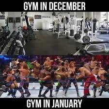 December Meme - going the gym december vs january