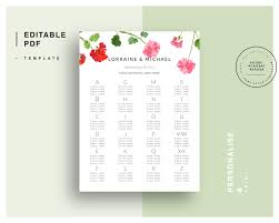 guest seating chart template free engagement party invites