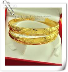 yellow bangle bracelet images Womens solid fine 18k gp yellow gold bangles bangle ladys nice jpg