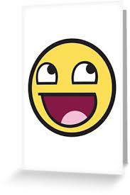 Meme Emoticon Face - awesome face funny meme smiley emoticon greeting cards by