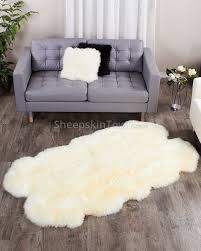 Sheepskin Area Rugs White Sheepskin Rug By Bowron Large Quatro Lambskin Rug At