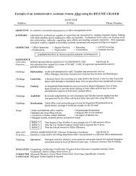 sample executive administrative assistant resume resume objective